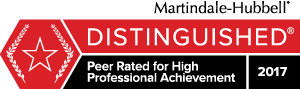 Martindale-Hubbell - Distinguished - Peer Rated for High Professional Achievement - 2017