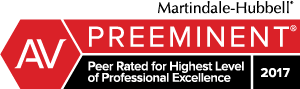 Martindale-Hubbell - Preeminent - Peer Rate for Highest Level of Professional Excellence - 2017